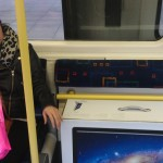 Cheryl and the iMac on the tube
