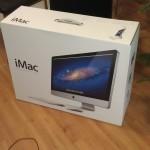 iMac box at home