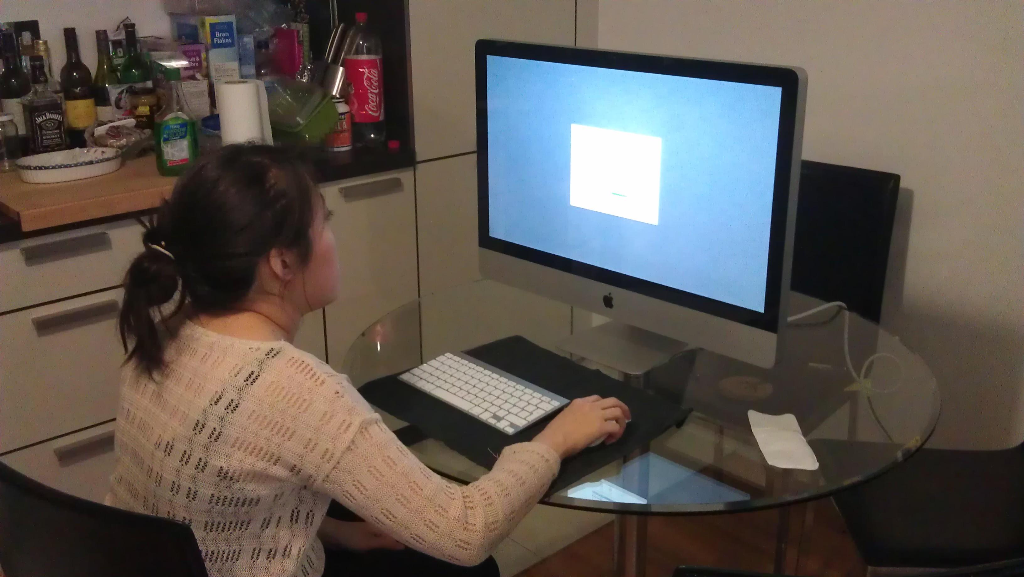 Cheryl on the iMac